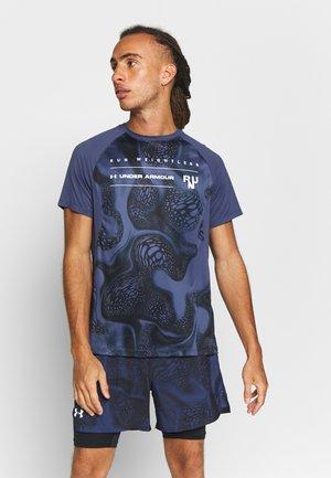 QUALIFIER ISO CHILL WEIGHTLESS SHORT SLEEVE - Print T-shirt - blue ink/black