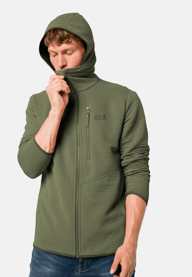 Zip-up hoodie - light moss