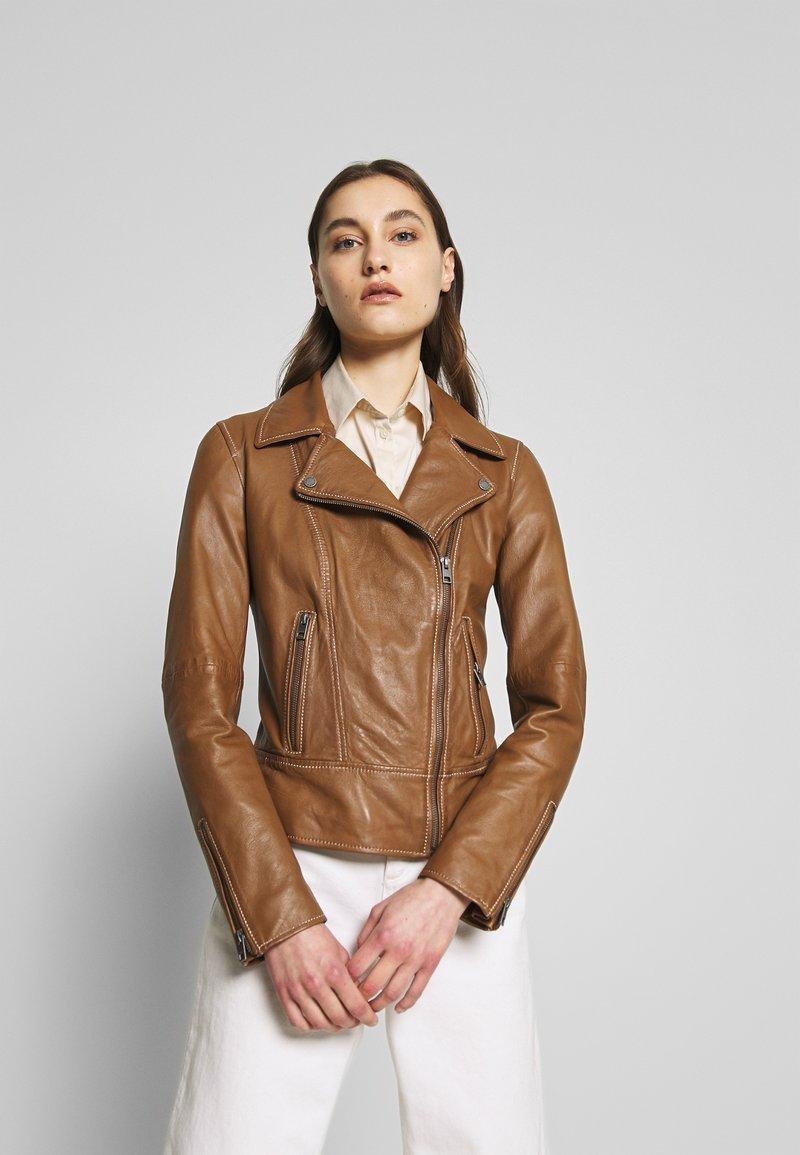 Oakwood - ADELE - Leather jacket - cognac