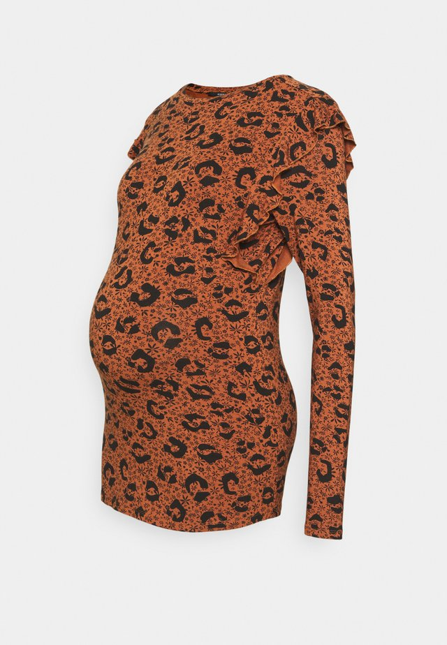 FANCY LEOPARD - Longsleeve - coconut shell