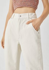 PULL&BEAR - Jeans a sigaretta - white - 3
