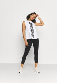 New Balance - RELENTLESS CINCHED BACK GRAPHIC TANK - Top - white - 1