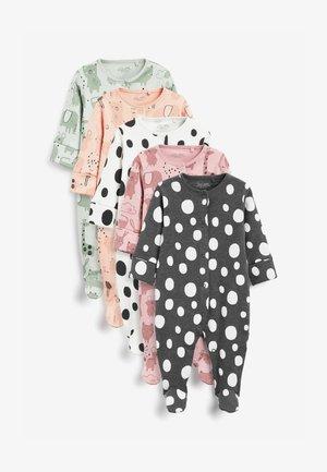 5 PACK - Sleep suit - white black light pink