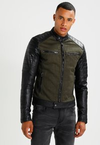 Be Edgy - ANDY  - Leather jacket - khaki - 0