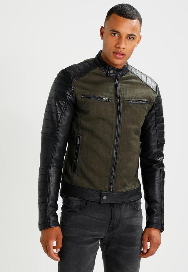 ANDY  - Leather jacket - khaki