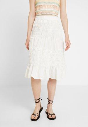 YASJASMINE MIDI SKIRT VIP - A-line skirt - star white