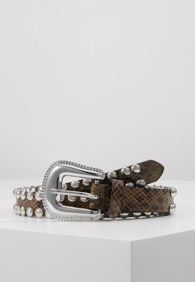 Cinturón - beige/black