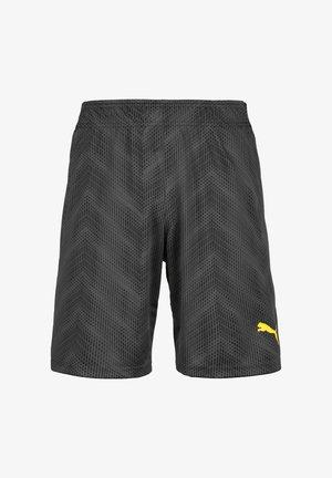 Pantaloncini sportivi - black/dark yellow