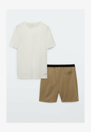 SET - Pyjama - brown/white