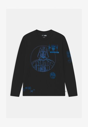 BOY STAR WARS MANDALORIAN - Top s dlouhým rukávem - true black