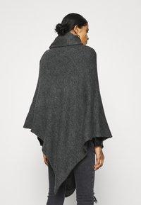 ONLY - ONLELONA PONCHO - Cape - dark grey - 2