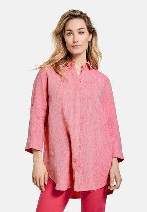 Button-down blouse - rasberry melange