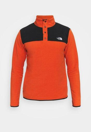GLACIER SNAP - Fleece jumper - burnt ochre/black