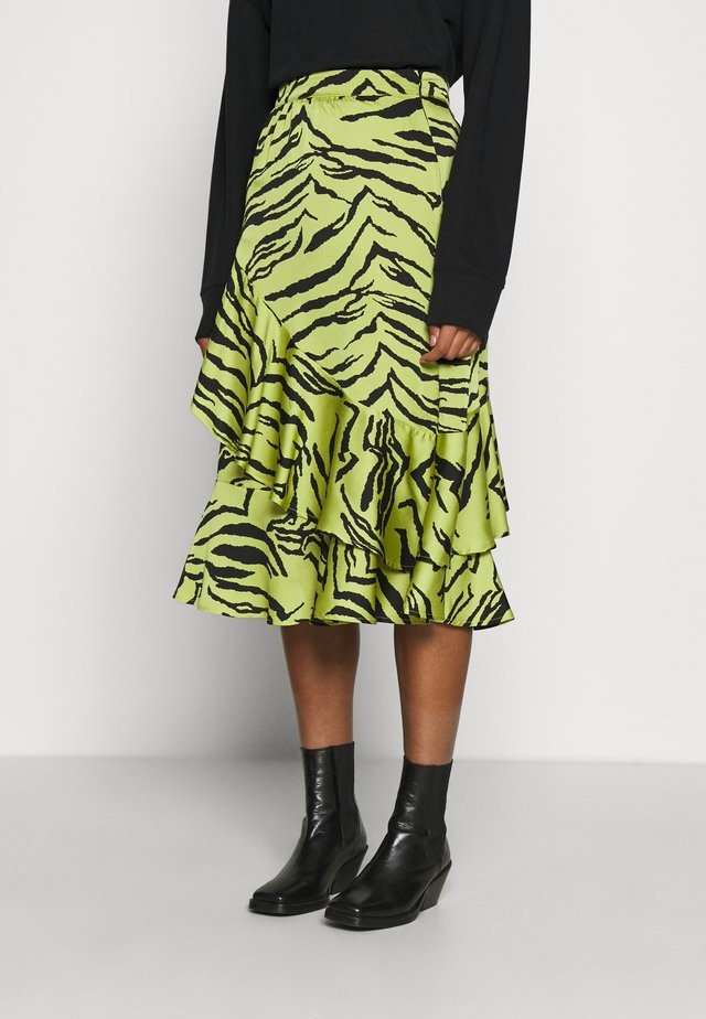 AYLA - A-line skirt - green multi