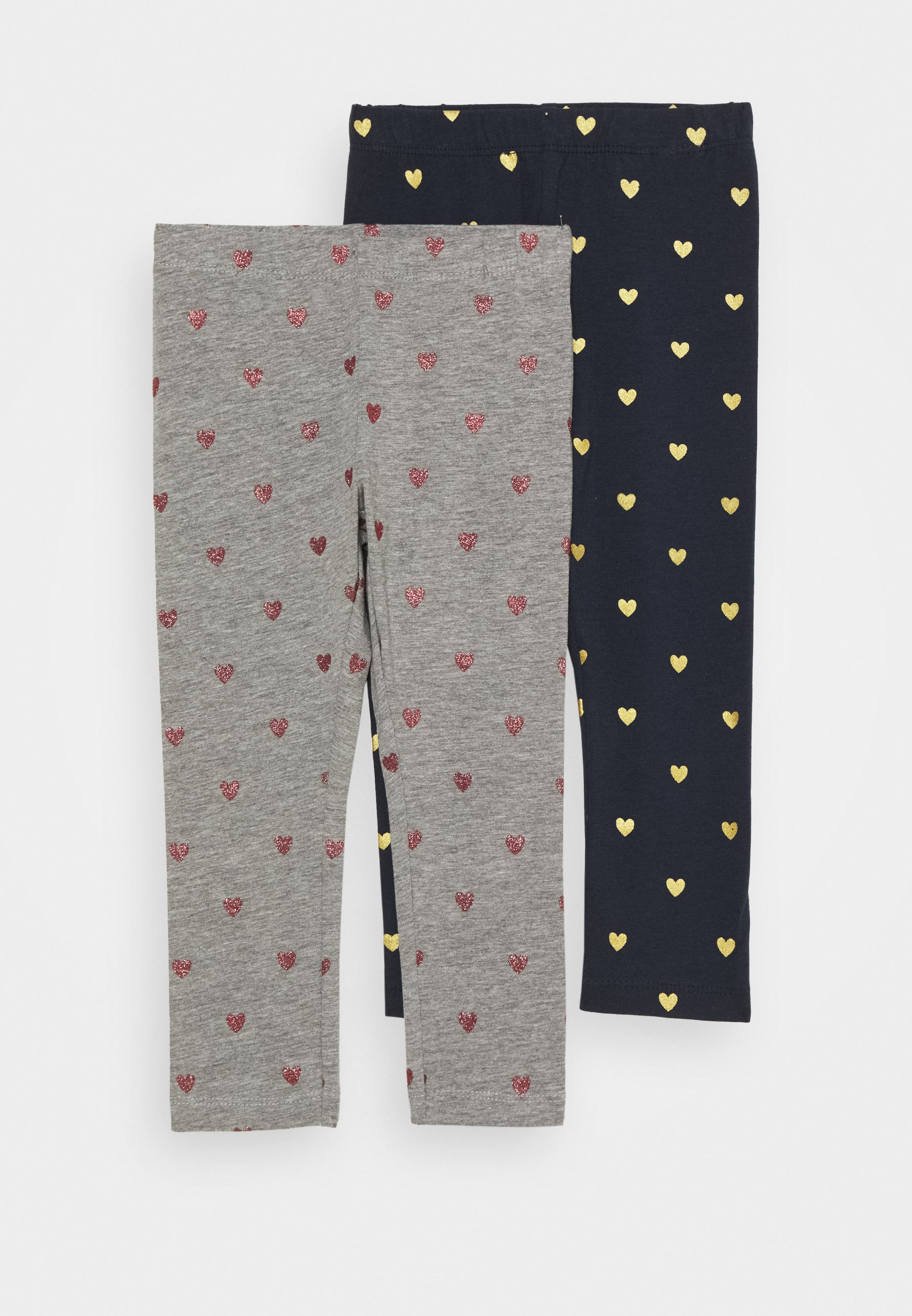 Kids NMFVIVIAN GLITTER 2 PACK - Leggings - Trousers