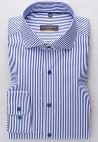 Eterna - SLIM FIT - Shirt - blau/weiß - 4