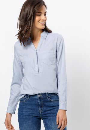 Blouse - soft blue melange