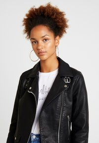 Topshop - LUCKY - Faux leather jacket - black - 3