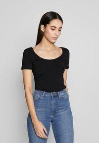 Anna Field Tall - 3 PACK - Basic T-shirt - white/black/dark grey - 2