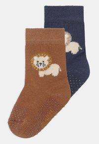 Ewers - LION 2 PACK - Socks - dark blue/brown - 0