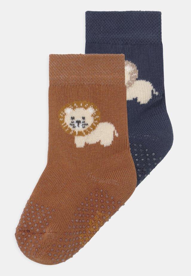 LION 2 PACK - Calcetines - dark blue/brown