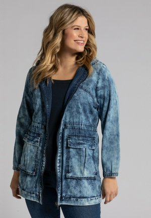 Short coat - mattes jeansblau