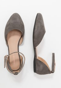 Anna Field Wide Fit - LEATHER ANKLE STRAP BALLET PUMPS - Babies - dark grey - 3