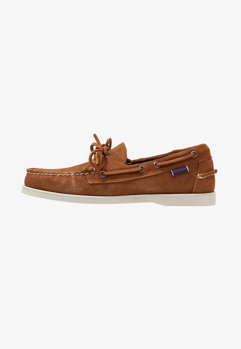 Sebago - DOCKSIDES PORTLAND - Boat shoes - brown cognac