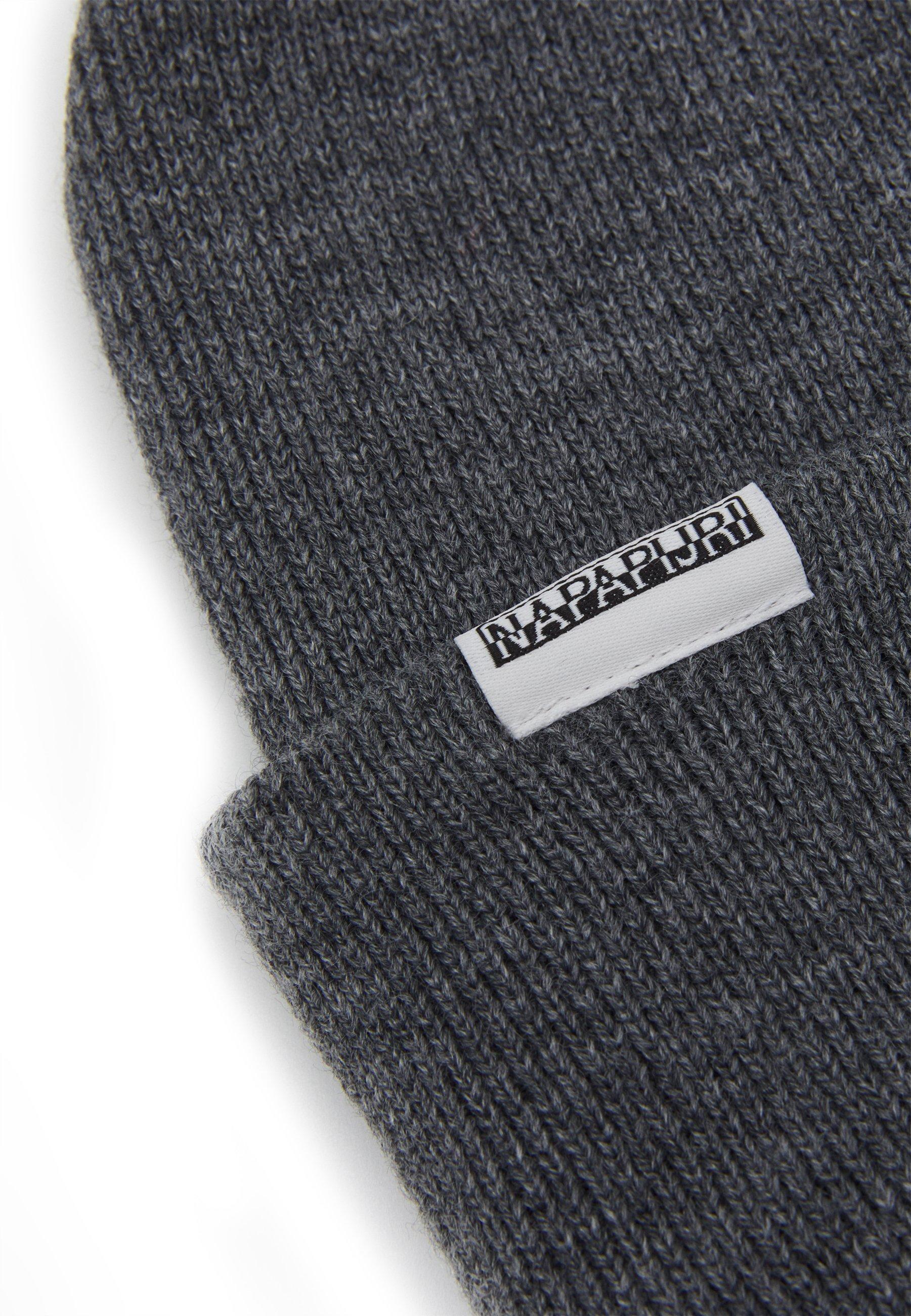 Napapijri Semiury - Mütze Dark Grey Melange/dunkelgrau