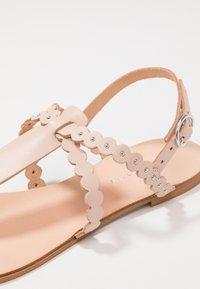 mint&berry - T-bar sandals - nude - 2