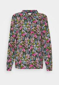 JDYLION - Button-down blouse - black/multicolor