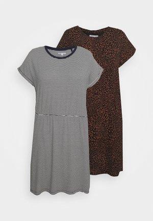 DRESSES 2 PACK  - Jersey dress - dark blue