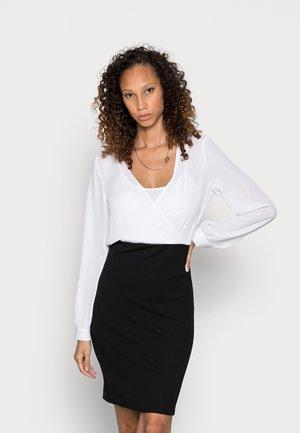 Pouzdrové šaty - black/white