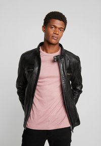 Oakwood - DRINK - Leather jacket - black - 3