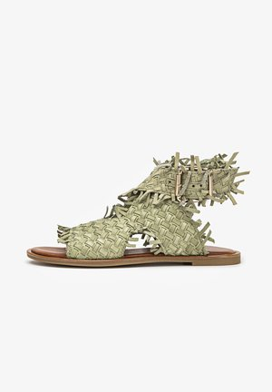 Ankle cuff sandals - olive olv