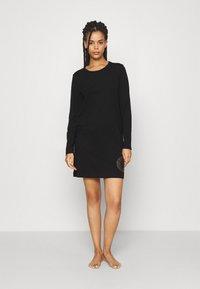 Calvin Klein Underwear - ICONIC LOUNGE NIGHTSHIRT - Nightie - black - 1