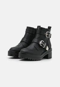 Even&Odd Wide Fit - Kovbojské/motorkářské boty - black - 2