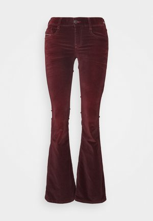 D-EBBEY - Bootcut jeans - burgundy