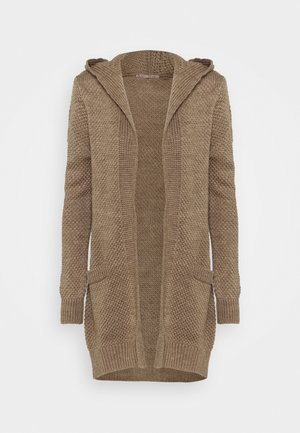 HOODED CARDIGAN - Cardigan - tan melange