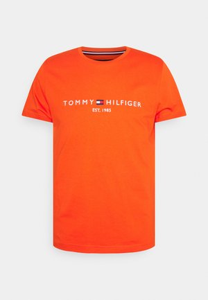 LOGO TEE - Print T-shirt - daring orange