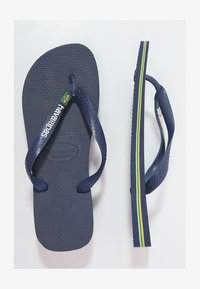 Havaianas - BRASIL LOGO - Chanclas de dedo - navy blue - 0
