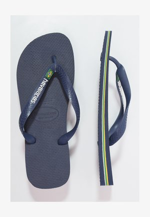 BRASIL LOGO - Teenslippers - navy blue