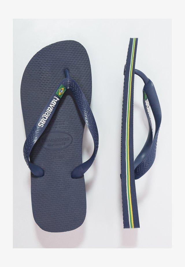 BRASIL LOGO - Teenslippers - navy blue