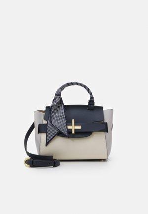 BRIGETTE BELTED SATCHEL - Handbag - white/blue