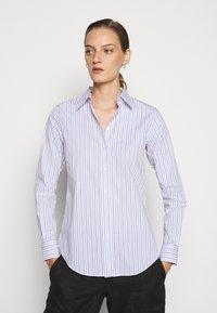 Lauren Ralph Lauren - NON IRON SHIRT - Button-down blouse - white/blue - 0