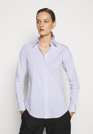 NON IRON SHIRT - Button-down blouse - white/blue