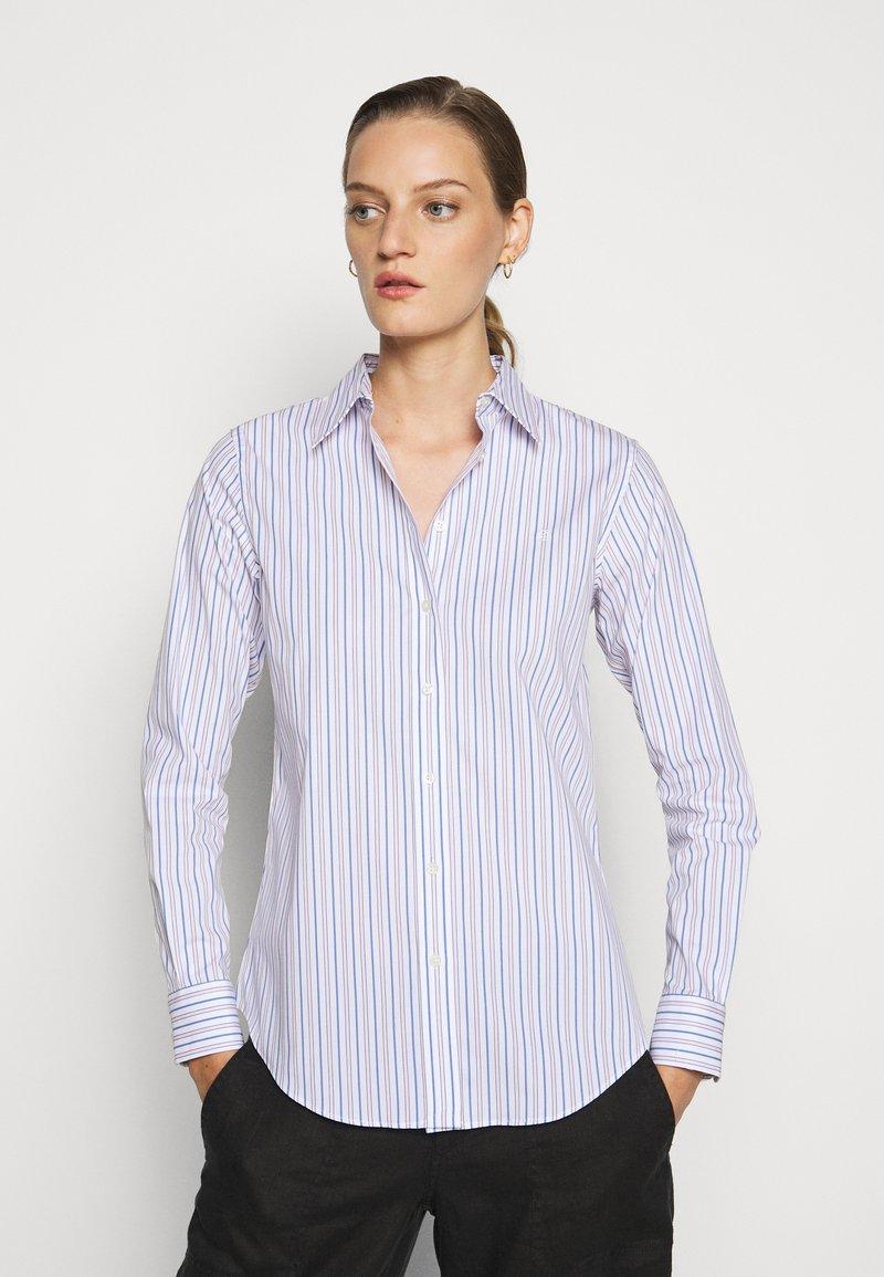 Lauren Ralph Lauren - NON IRON SHIRT - Button-down blouse - white/blue