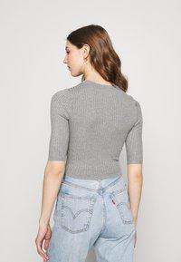 Even&Odd - 2 PACK - T-shirt basic - mottled grey/sand - 2