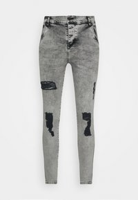 SIKSILK - SKINNY FIT ACID WASH WITH DISTRESSING - Jeans Skinny Fit - snow wash grey - 3