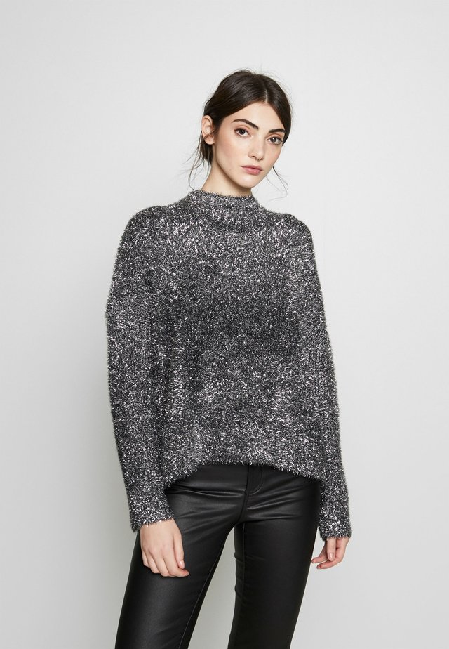NOA - Jumper - silver / black